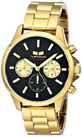 腕時計 ベスタル ヴェスタル メンズ HEI3CM01 【送料無料】Vestal Unisex HEI3CM01 Heirloom Chrono Analog Display Analog Quartz Gold Watch腕時計 ベスタル ヴェスタル メンズ HEI3CM01