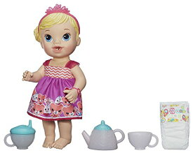 ベビーアライブ 赤ちゃん おままごと ベビー人形 A9288 【送料無料】Baby Alive Lil' Sips Baby Has a Tea Party Doll (Blonde)ベビーアライブ 赤ちゃん おままごと ベビー人形 A9288