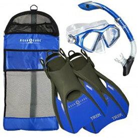 シュノーケリング マリンスポーツ 【送料無料】Aqua Lung Sport Admiral 2 LX, Island Dry LX38; Trek Snorkeling Set Large Blueシュノーケリング マリンスポーツ