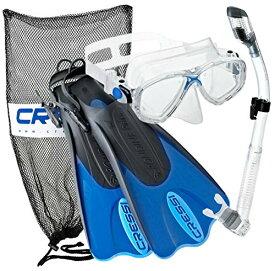 シュノーケリング マリンスポーツ CRSPSFSS-BL-LXL 【送料無料】Cressi Palau Mask Fin Snorkel Set with Snorkeling Gear Bag, Blue, L/XL | (Men's 10-13) (Women's 11-14)シュノーケリング マリンスポーツ CRSPSFSS-BL-LXL
