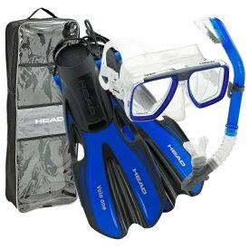 シュノーケリング マリンスポーツ 【送料無料】HEAD by Mares Tarpon Travel Friendly Premium Mask Fin Snorkel Set, Blue, Large, (10-13)シュノーケリング マリンスポーツ