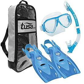 シュノーケリング マリンスポーツ UP-7221B-BL-L 【送料無料】TUSA Sport Adult Splendive Mask, Dry Snorkel, and Fins Travel Set, Large, Blueシュノーケリング マリンスポーツ UP-7221B-BL-L