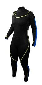 シュノーケリング マリンスポーツ 1003470 【送料無料】Deep See Women's 3mm Jumpsuit, Black/Royal Blue, Size 7/8シュノーケリング マリンスポーツ 1003470