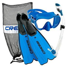 シュノーケリング マリンスポーツ CRS-RMFSS-BL-45/46 【送料無料】Cressi Rondinella Full Foot Mask Fin Snorkel Set with Bag, Blue, Size 10/11-Size 45/46シュノーケリング マリンスポーツ CRS-RMFSS-BL-45/46