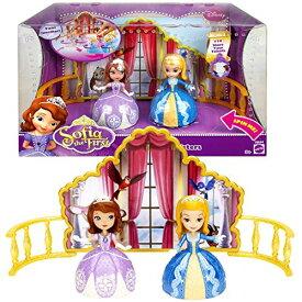 """ちいさなプリンセス ソフィア ディズニージュニア Mattel Year 2012 Disney """"Sofia the First"""" Series 2 Pack 3 Inch Doll Set - DANCING SISTERS with Princess Sofia and Princess Amber Plus Backstage and Charmちいさなプリンセス ソフィア ディズニージュニア"""