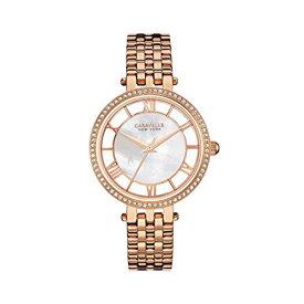 ブローバ 腕時計 レディース 44L171 Caravelle New York Women's Quartz Watch with Stainless-Steel Strap, Rose Gold, 7 (Model: 44L171)ブローバ 腕時計 レディース 44L171