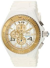テクノマリーン 腕時計 メンズ TM-115109 Technomarine Men's Cruise Stainless Steel Quartz Watch with Silicone Strap, White, 29 (Model: TM-115109)テクノマリーン 腕時計 メンズ TM-115109