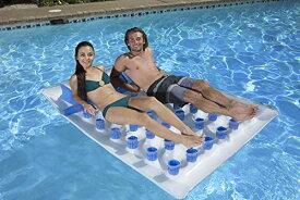 フロート プール 水遊び 浮き輪 83390 Poolmaster Double French Pocket Swimming Pool Mattress Float Loungeフロート プール 水遊び 浮き輪 83390
