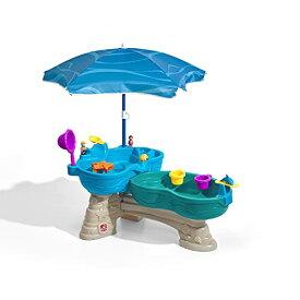フロート プール 水遊び おもちゃ 864500 【送料無料】Step2 Spill & Splash Seaway Water Table   Kids Dual-Level Water Play Table with Umbrella & 11-Pc Accessory Set   Large Water Tableフロート プール 水遊び おもちゃ 864500