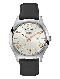 ゲス GUESS 腕時計 メンズ U0792G8 GUESS Men's Quartz Watch with Leather Strap, Black, 22 (Model: U0792G8)ゲス GUESS 腕時計 メンズ U0792G8