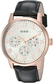 ゲス GUESS 腕時計 メンズ U0974G2 GUESS Men's Stainless Steel Quartz Watch with Leather Strap, Black, 21 (Model: U0974G2)ゲス GUESS 腕時計 メンズ U0974G2