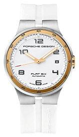腕時計 ポルシェ 高級メンズ カイエン 6351.47.64.1256 【送料無料】Porsche Design Flat Six Automatic Stainless Steel Mens White Watch Calendar 6351.47.64.1256腕時計 ポルシェ 高級メンズ カイエン 6351.47.64.1256