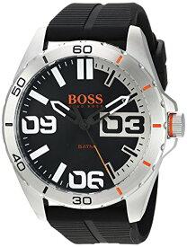 ヒューゴボス 高級腕時計 メンズ 1513285 Hugo Boss Orange Berlin Black Dial Silicone Strap Men's Watch 1513285ヒューゴボス 高級腕時計 メンズ 1513285
