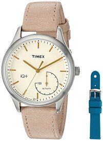 タイメックス 腕時計 レディース TWG013500 Timex Women's TWG013500 IQ+ Move Activity Tracker Tan Leather Strap Smart Watch Set With Extra Teal Silicone Strapタイメックス 腕時計 レディース TWG013500