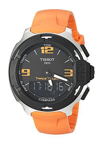 ティソ 腕時計 メンズ T0814201705702 Tissot Men's T0814201705702 T-race Analog-Digital Display Swiss Quartz Orange Watchティソ 腕時計 メンズ T0814201705702
