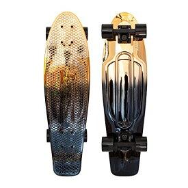 """スタンダードスケートボード スケボー 海外モデル 直輸入 PNYCOMP27373 Penny Skateboards- Nickel Board 27"""" Plastic Cruiser, Black/Goldスタンダードスケートボード スケボー 海外モデル 直輸入 PNYCOMP27373"""