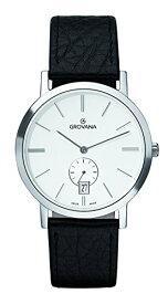 グロバナ スイスウォッチ 腕時計 メンズ 1050-1532 【送料無料】Grovana Men's 1050-1532 Traditional Analog Display Swiss Quartz Black Watchグロバナ スイスウォッチ 腕時計 メンズ 1050-1532