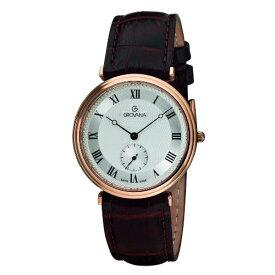 グロバナ スイスウォッチ 腕時計 メンズ 1276-5568 【送料無料】Grovana Men's 1276-5568 Traditional Analog Display Swiss Quartz Brown Watchグロバナ スイスウォッチ 腕時計 メンズ 1276-5568