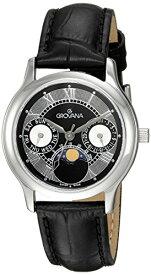 グロバナ スイスウォッチ 腕時計 レディース 3025-1537 【送料無料】Grovana Unisex 3025-1537 Moonphase Analog Display Swiss Quartz Black Watchグロバナ スイスウォッチ 腕時計 レディース 3025-1537