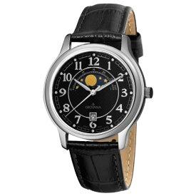 グロバナ スイスウォッチ 腕時計 メンズ 1026-1537 【送料無料】Grovana Men's 1026-1537 Moonphase Analog Display Swiss Quartz Black Watchグロバナ スイスウォッチ 腕時計 メンズ 1026-1537