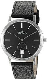 グロバナ スイスウォッチ 腕時計 メンズ 1050-1537 【送料無料】Grovana Men's 1050-1537 Traditional Analog Display Swiss Quartz Black Watchグロバナ スイスウォッチ 腕時計 メンズ 1050-1537