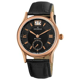 グロバナ スイスウォッチ 腕時計 メンズ 1725-1567 【送料無料】Grovana Men's 1725-1567 Traditional Analog Display Swiss Quartz Black Watchグロバナ スイスウォッチ 腕時計 メンズ 1725-1567