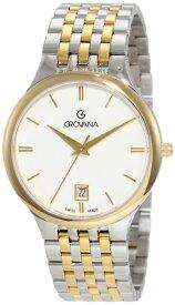 グロバナ スイスウォッチ 腕時計 メンズ 2013.1143 【送料無料】Grovana Men's 2013.1143 Classic Dress Analog White Watchグロバナ スイスウォッチ 腕時計 メンズ 2013.1143