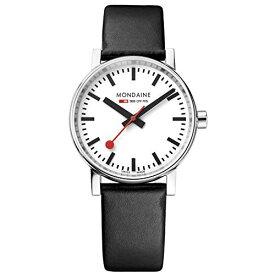 モンディーン 北欧 スイス 腕時計 レディース MSE.35110.LB Mondaine ' SBB' Swiss Quartz Stainless Steel and Leather Casual Watch, Color:Black (Model: MSE.35110.LB)モンディーン 北欧 スイス 腕時計 レディース MSE.35110.LB
