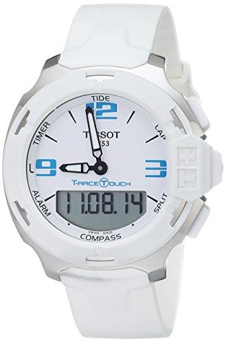 ティソ 腕時計 メンズ T0814201701701 Tissot Men's T0814201701701 T-Race Touch Analog-Digital Display Swiss Quartz White Watchティソ 腕時計 メンズ T0814201701701