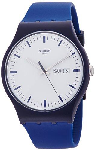 スウォッチ 腕時計 メンズ SUON709 Swatch Bellablu White Dial Blue Silicone Strap Men'S Watch Suon709スウォッチ 腕時計 メンズ SUON709