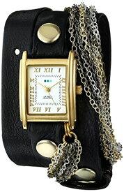 ラメールコレクションズ 腕時計 レディース La Mer Collections Women's LMCW1008 Venice Gold Black Multi Chain Watchラメールコレクションズ 腕時計 レディース