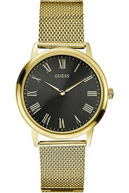 ゲス GUESS 腕時計 メンズ W0406G6 GUESS W0406G6,Men's Dress,Stainless Steel,Gold-Tone,Black Dial,WRゲス GUESS 腕時計 メンズ W0406G6