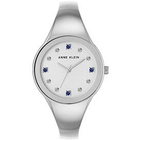 アンクライン 腕時計 レディース 【送料無料】Anne Kleinn Women's Diamond Accent Silver-Tone Bangle Bracelet Watch 34mm AK/2861SASVアンクライン 腕時計 レディース