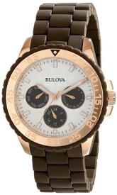 ブローバ 腕時計 レディース 98N103 Bulova Women's 98N103 Brown Rubber Wrapped Stainless-Steel Bracelet Watchブローバ 腕時計 レディース 98N103