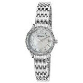 ブローバ 腕時計 レディース 96X133 Bulova Women's Crystals Japanese-Quartz Watch with Stainless-Steel Strap, Silver, 12 (Model: 96X133)ブローバ 腕時計 レディース 96X133