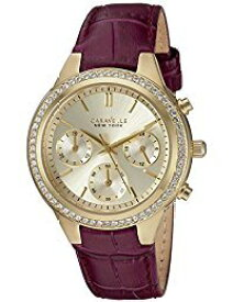 ブローバ 腕時計 レディース 44L182 Caravelle New York Women's Stainless Steel Quartz Watch with Leather-Crocodile Strap, Purple, 9 (Model: 44L182)ブローバ 腕時計 レディース 44L182