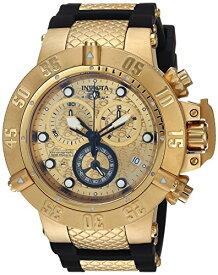 インヴィクタ インビクタ サブアクア 腕時計 メンズ 15802 Invicta Men's 15802 Subaqua 18k Gold Ion-Plated Stainless Steel Watch with Black Polyurethane Bandインヴィクタ インビクタ サブアクア 腕時計 メンズ 15802