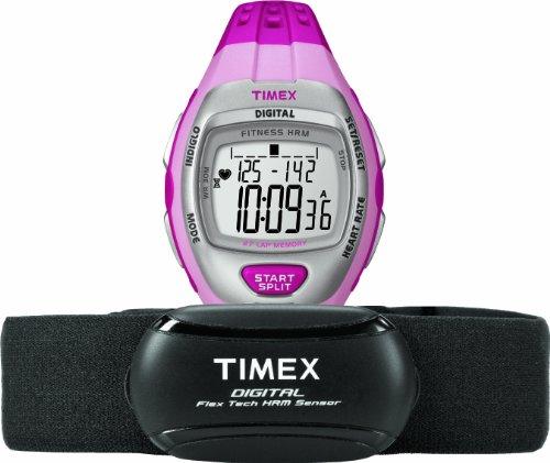 タイメックス 腕時計 レディース T5K734F5 Timex Women's T5K734 Zone Trainer Digital HRM Flex Tech Chest Strap & Mid-Size Pink/Silver-Tone Watchタイメックス 腕時計 レディース T5K734F5
