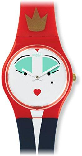 スウォッチ 腕時計 レディース GR165 Swatch Women's Gent GR165 Red Silicone Swiss Quartz Fashion Watchスウォッチ 腕時計 レディース GR165