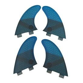 サーフィン フィン マリンスポーツ 【送料無料】UPSURF Surfing fins K2.1 FCS Honeycomb+Fiberglass Quad fins (Blue/Grey/Red/Green) (Blue(Logo))サーフィン フィン マリンスポーツ