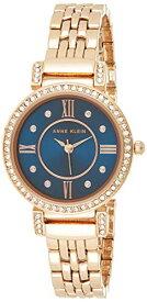 アンクライン 腕時計 レディース AK/2928NVRG 【送料無料】Anne Klein Women's Swarovski Crystal Accented Rose Gold-Tone Bracelet Watchアンクライン 腕時計 レディース AK/2928NVRG