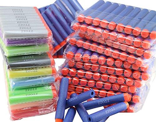 ナーフ ゾンビストライク アメリカ 直輸入 ソフトダーツ ZTOZZ Nerf Compatible Bullets 300 Darts Multicolor Soft Tip for Elite N Strike Refill Series Pack for Kid Toy Gun Fire Blaster (Multicolor Soft ナーフ ゾンビストライク アメリカ 直輸入 ソフトダーツ