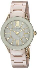 アンクライン 腕時計 レディース AK/2388TNGB 【送料無料】Anne Klein Women's AK/2388TNGB Swarovski Crystal Accented Gold-Tone and Tan Ceramic Bracelet Watchアンクライン 腕時計 レディース AK/2388TNGB