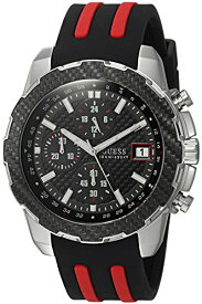 ゲス GUESS 腕時計 メンズ U1047G1 GUESS Men's Stainless Steel Casual Silicone Watch, Color: Black (Model: U1047G1)ゲス GUESS 腕時計 メンズ U1047G1