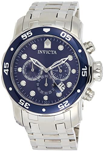 インヴィクタ インビクタ プロダイバー 腕時計 メンズ 0070 Invicta Men's 0070 Pro Diver Collection Analog Chinese Quartz Chronograh Silver-Tone/Blue Stainless Steel Watchインヴィクタ インビクタ プロダイバー 腕時計 メンズ 0070