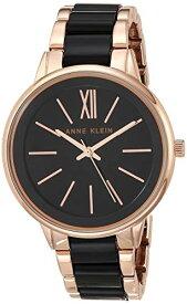 アンクライン 腕時計 レディース AK/1412BKRG 【送料無料】Anne Klein Women's Rose Gold-Tone and Black Bracelet Watchアンクライン 腕時計 レディース AK/1412BKRG