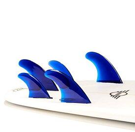 サーフィン フィン マリンスポーツ FIVE-BLUE- 【送料無料】DORSAL Performance Flexrez Surfboard Thruster/Quad Surf Fins (5) FCS Compatible Blueサーフィン フィン マリンスポーツ FIVE-BLUE-
