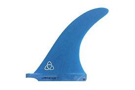 """サーフィン フィン マリンスポーツ 【送料無料】Naked Viking Surf Ola 8.5"""" Fiberglass Longboard Fin - Blueサーフィン フィン マリンスポーツ"""