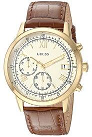 ゲス GUESS 腕時計 レディース U1000G3 GUESS Women's Stainless Steel Leather Casual Watch, Color: Gold-Tone/Brown (Model: U1000G3)ゲス GUESS 腕時計 レディース U1000G3