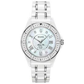 ブローバ 腕時計 レディース 98P172 Bulova Women's Marine Star Quartz Watch with Ceramic Strap, White, 18 (Model: 98P172)ブローバ 腕時計 レディース 98P172